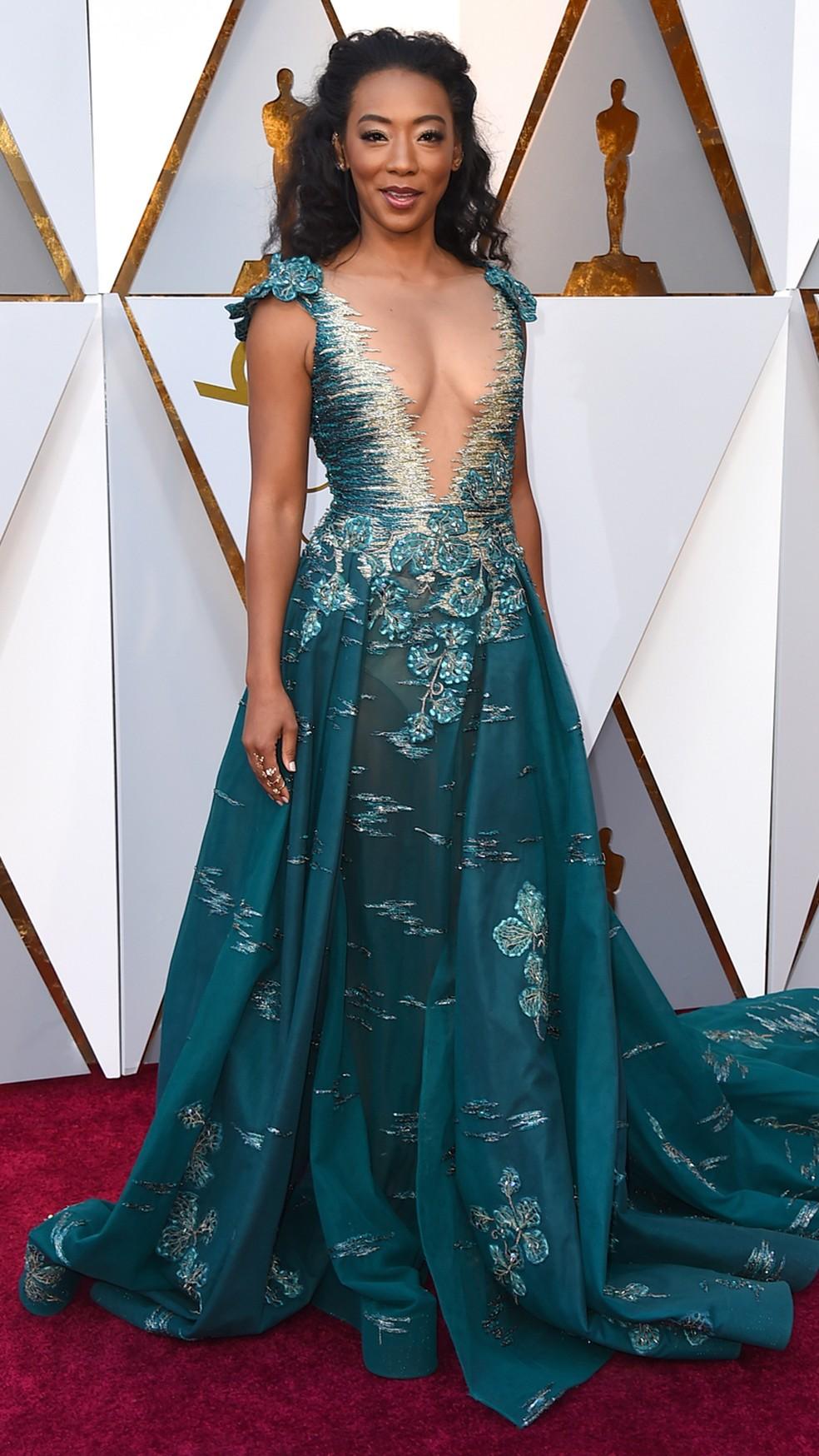 Betty Gabriel, atriz de 'Corra!', chega ao Oscar 2018 (Foto: Jordan Strauss/Invision/AP)