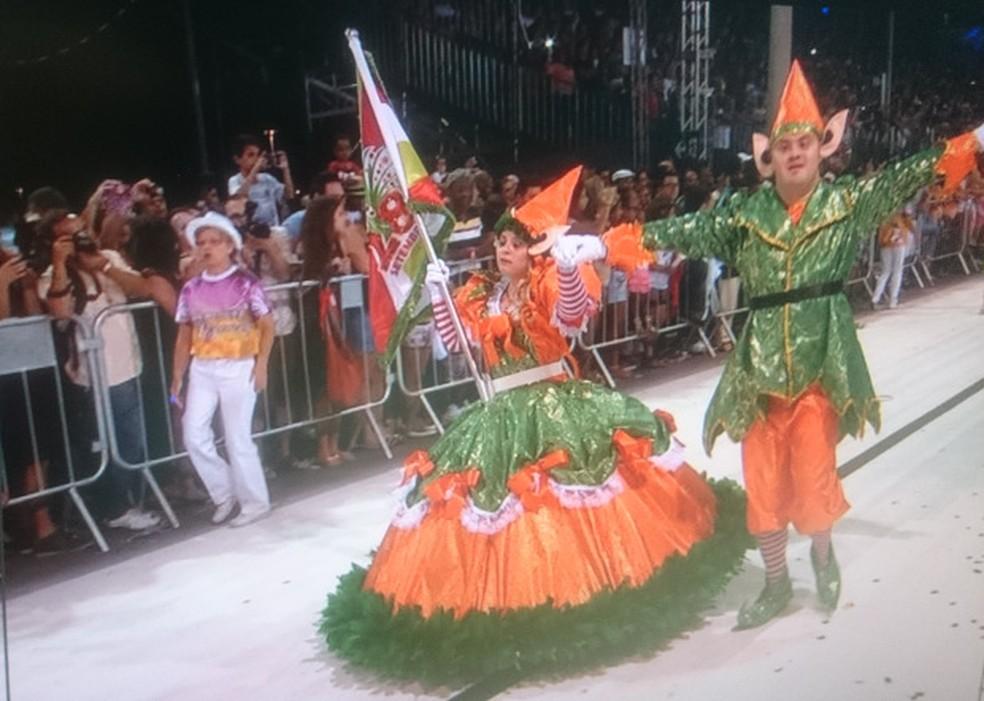 Tradicional desfile das escolas de samba também será realizado durante o Carnaval em Sorocaba (Foto: TV TEM/Reprodução)