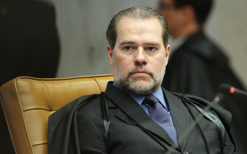 O ministro Dias Toffoli durante julgamento no Supremo (Foto: Carlos Moura/SCO/STF)