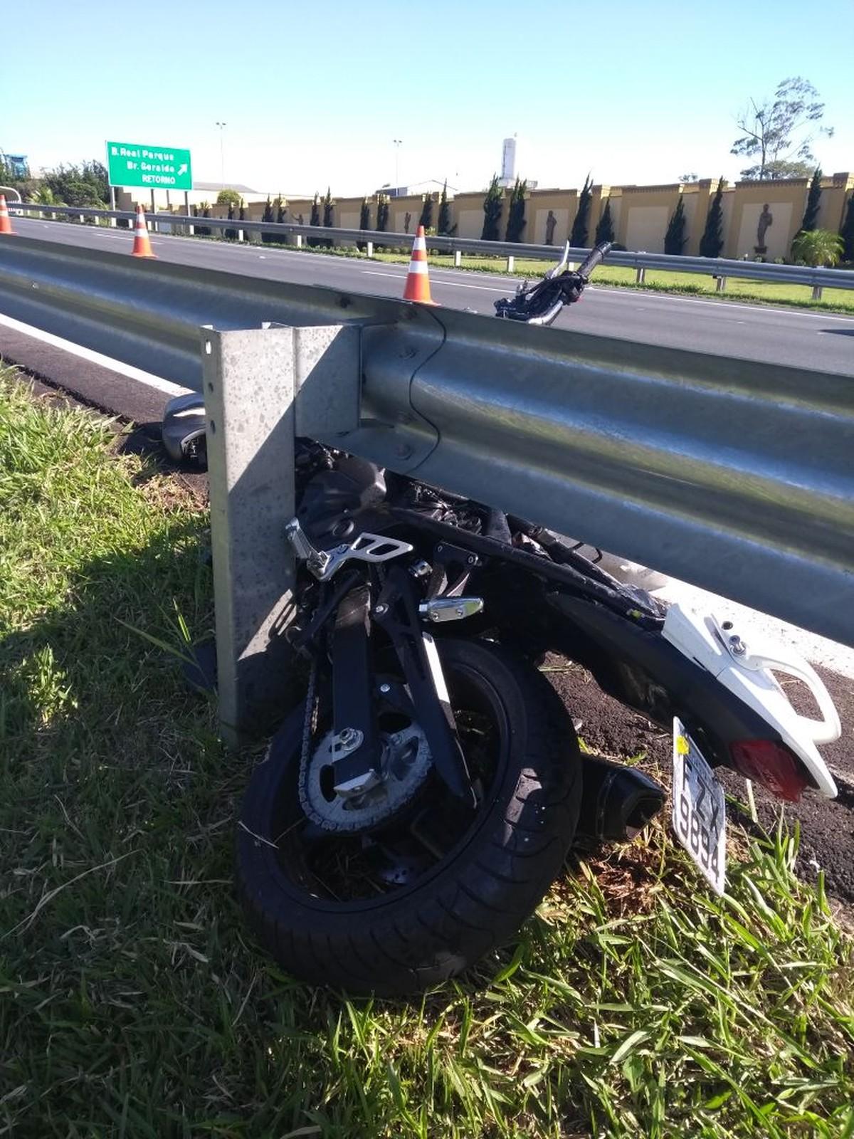 Motociclista fica ferido após acidente na Zeferino Vaz em Campinas