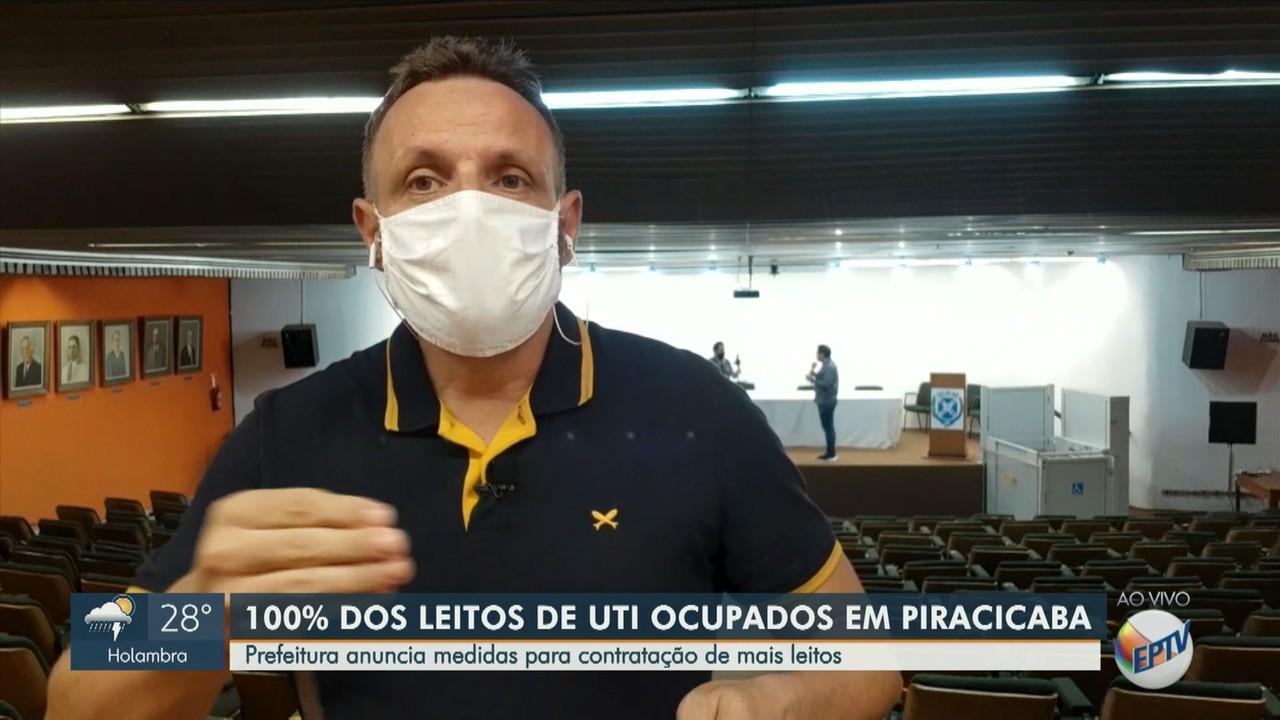 Piracicaba atinge 100% de ocupação em leitos de UTI Covid em todos os hospitais
