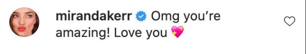 A declaração de amor da modelo Miranda Kerr para a cantora Katy Perry (Foto: Instagram)