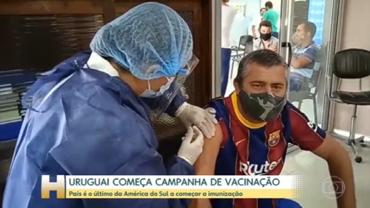 Uruguai começa hoje campanha de vacinação contra a Covid-19