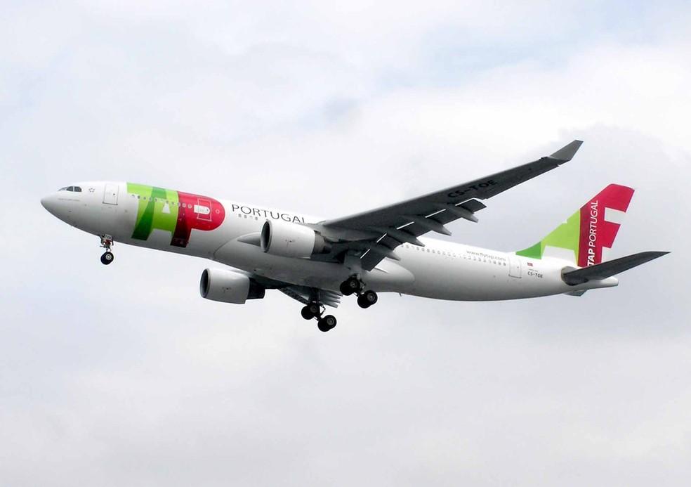 Avião da TAP durante voo — Foto: Wikimedia/Divulgação