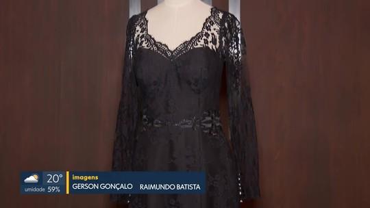 Vestido de primeira-dama Michelle Bolsonaro é leiloado em evento no DF