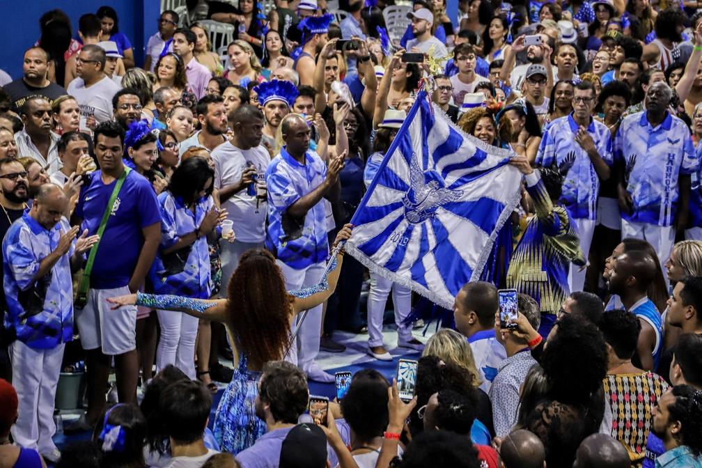 Ensaio show da Portela recebe a escola de samba Unidos da Tijuca — Foto: Divulgação/Portela
