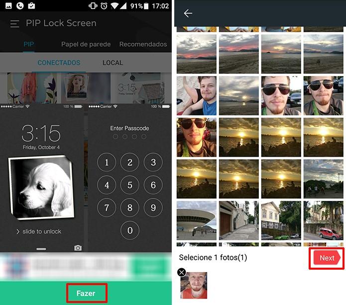 Selecione a foto que deseja aplicar à tela de bloqueio do Android (Foto: Reprodução/Elson de Souza)