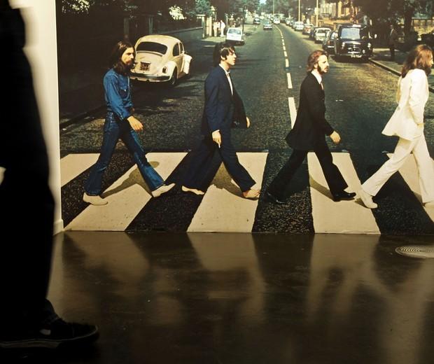 Exposição sobre o Abbey Road na Alemanha, em 2009 (Foto: Getty Images)