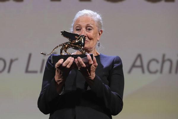 Vanessa Redgrave, de 81 anos, recebeu o Leão de Ouro no Festival de Cinema de Veneza por sua carreira (Foto: Vittorio Zunino Celotto/Getty Images)