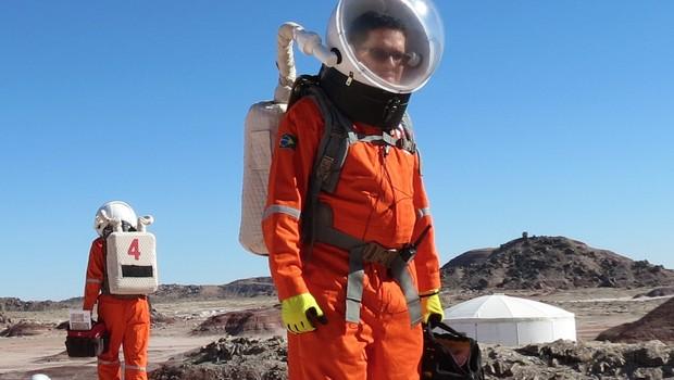 Julio Rezende na estação espacial de Utah, nos EUA (Foto: Divulgação)