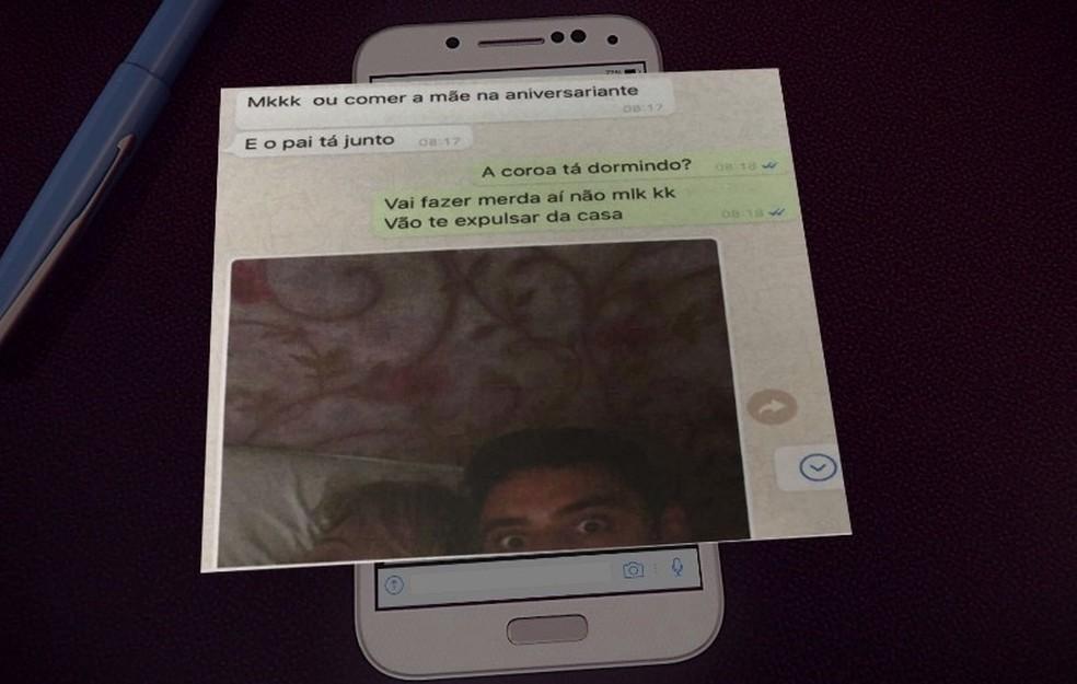 Daniel trocou mensagens com amigo momentos antes do crime — Foto: Reprodução/RPC