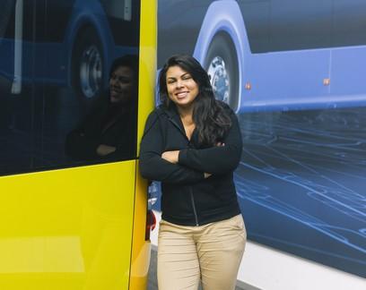Ela criou plataforma que ajuda a denunciar assédio no transporte público