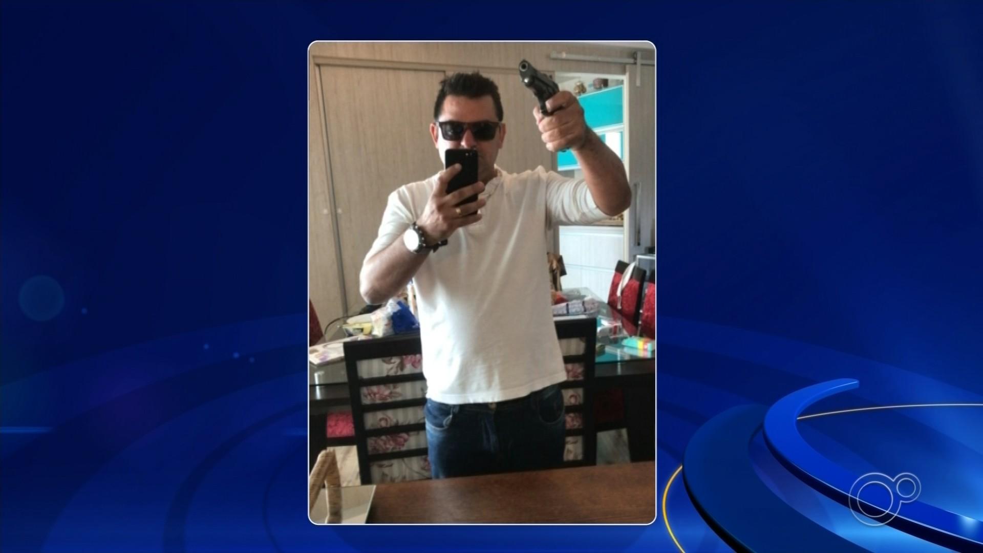 Homem postou fotos com arma em rede social antes de efetuar disparos pela janela do apartamento