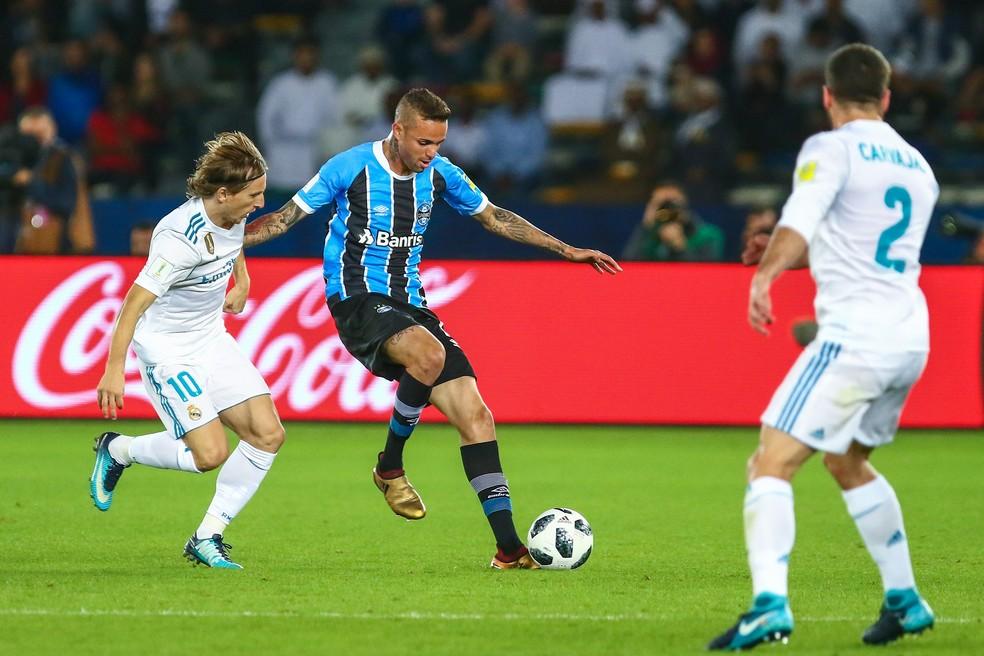 Luan não teve o mesmo brilho da Libertadores no Mundial (Foto: Lucas Uebel/Divulgação Grêmio)