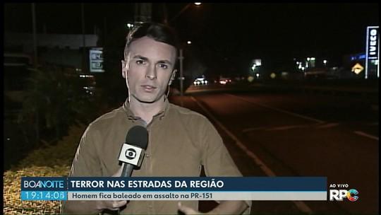 Carros-fortes são alvos de tentativas de assalto em estradas dos Campos Gerais