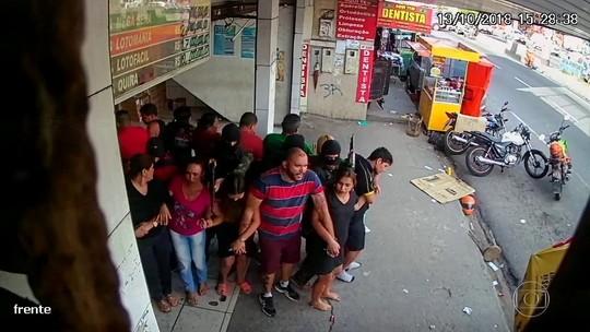 Vídeo mostra momentos de tensão de reféns durante assalto a lotérica