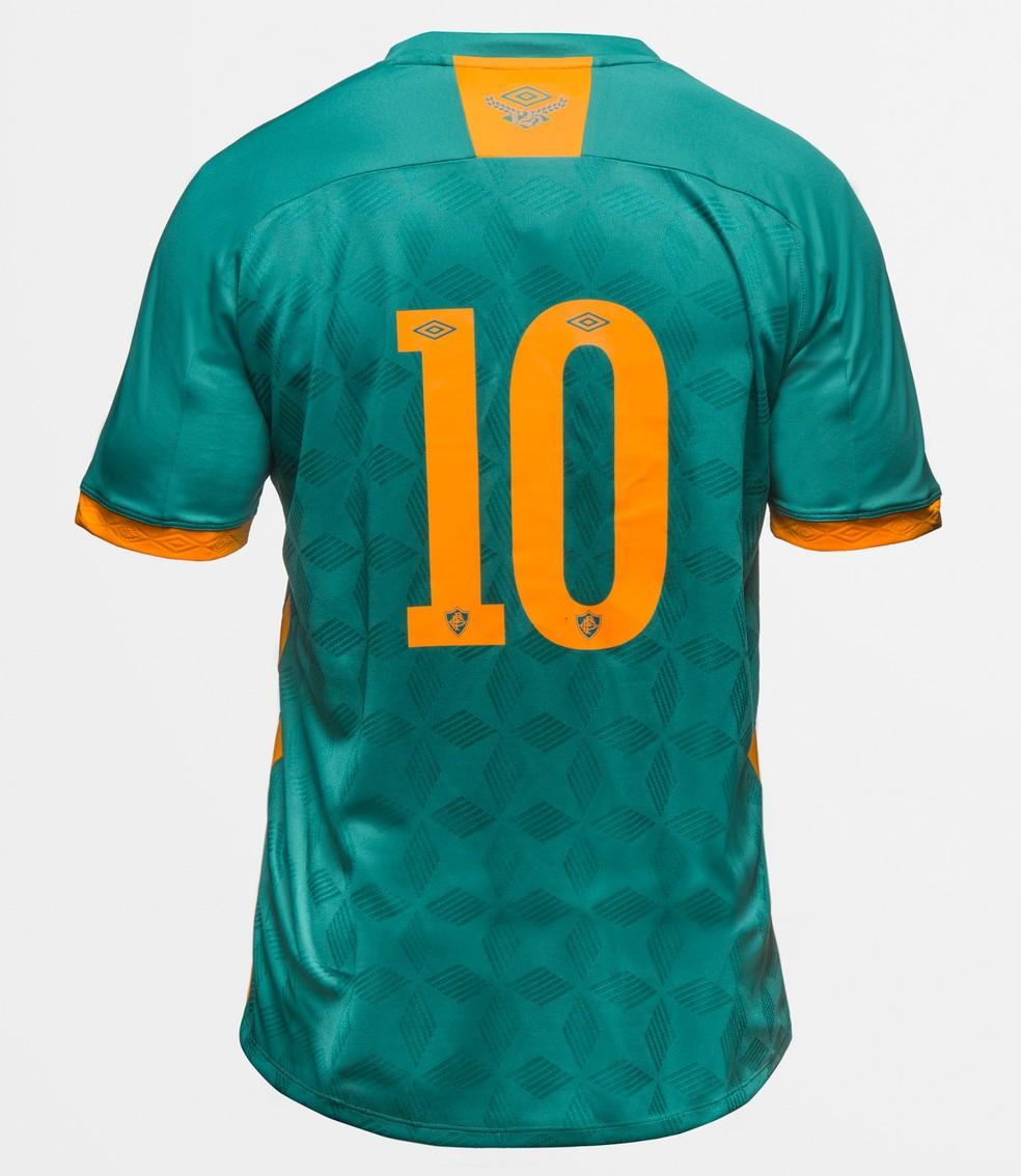 Números também são na cor laranja, como demais detalhes — Foto: Divulgação / Fluminense