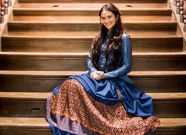 Marocas, mocinha da nova novela das 7, é interpretada por Juliana Paiva (Foto: Globo/João Miguel Júnior)