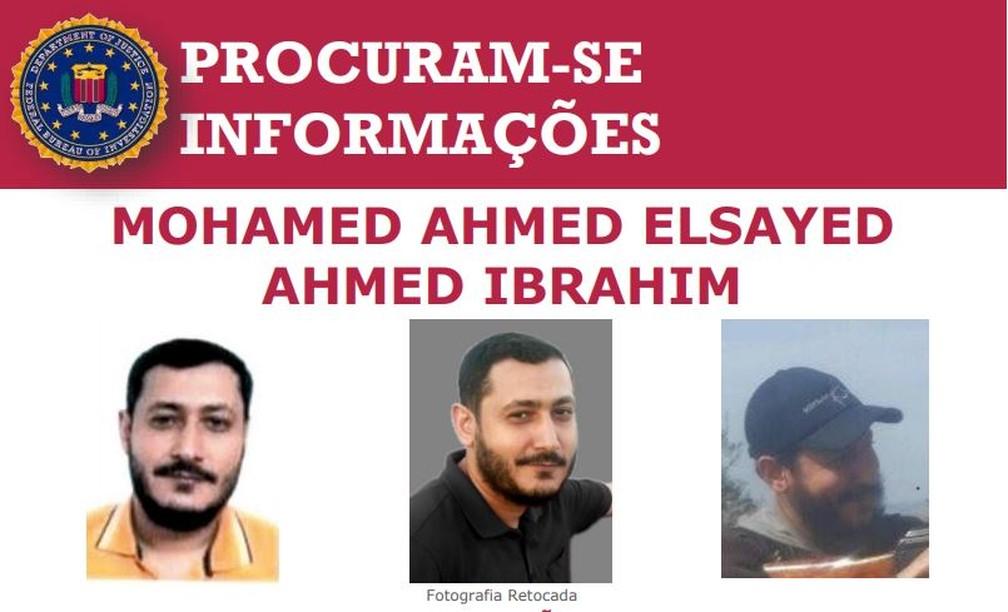 FBI procura, no Brasil, egípcio suspeito de integrar Al-Qaeda — Foto: Reprodução/FBI