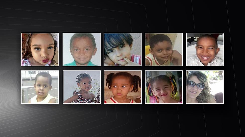 Vítimas do ataque do viagia à creche Gente Inocente (Foto: Reprodução/Inter TV)