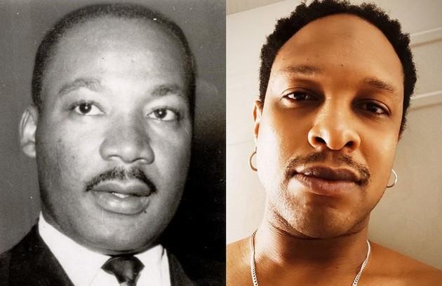 O papel de Martin Luther King ficará a cargo de Guilherme Silva. O ativista foi assassinado em 1968 (Foto: Arquivo e reprodução)