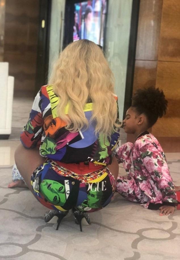 Beyoncé e Blue Ivy (Foto: Beyoncé/ Reprodução)
