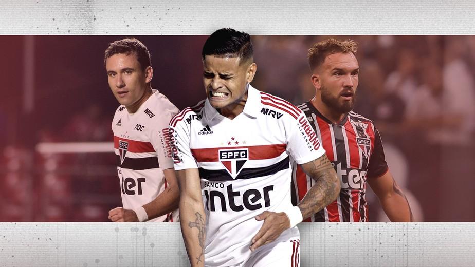 Pablo Everton Willian Farias Contrataes do So Paulo convivem com leses no clube