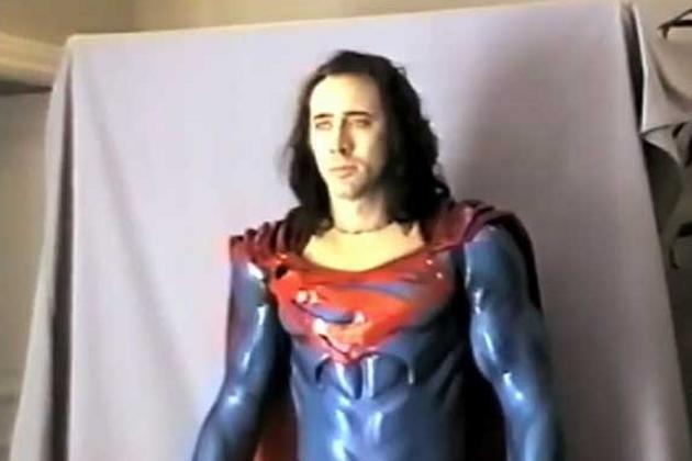 Nicolas Cage em prova de figurino para 'Superman Lives' (Foto: Reprodução / Redes Sociais)