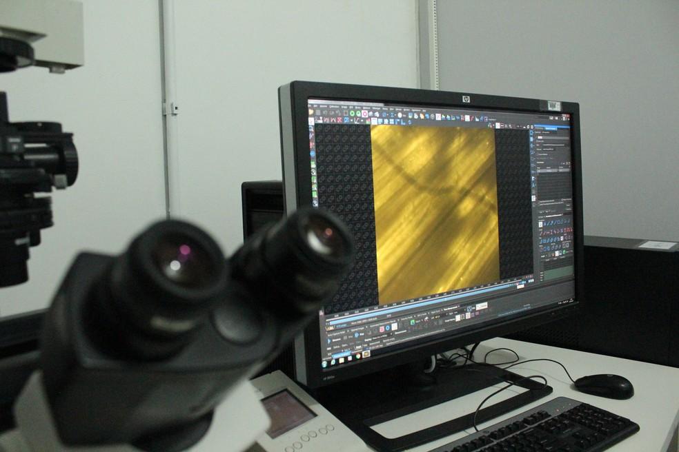 Novo sistema de microscopia, Fiocruz RO.  — Foto: Pedro Bentes/G1