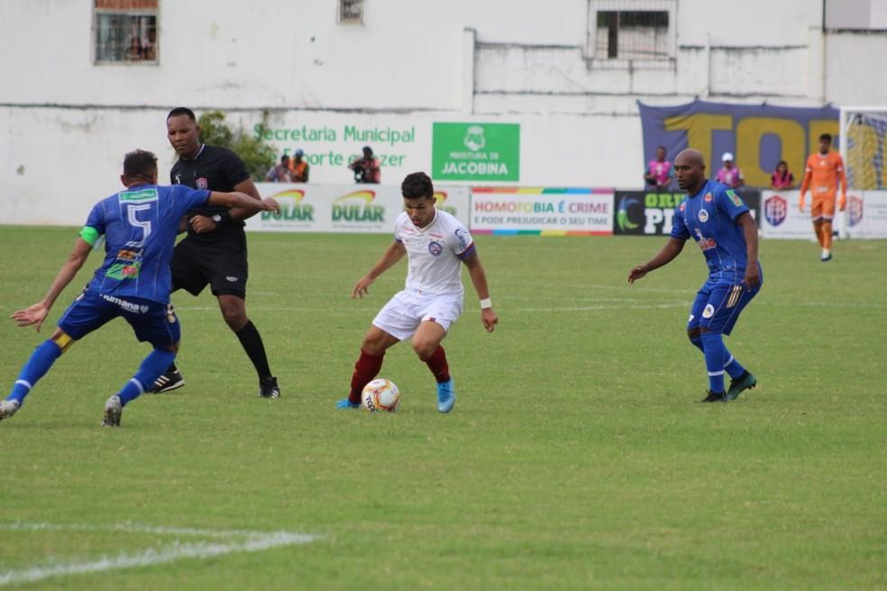 O Jacobina tem apenas um ponto conquistado no Campeonato Baiano — Foto: Rafael Machaddo / Divulgação / EC Bahia