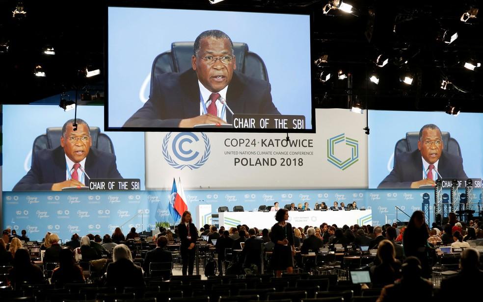 Discussões da COP 24, a Conferência do Clima da ONU, começaram neste domingo (2) na Polônia — Foto: Kacper Pempel/Reuters