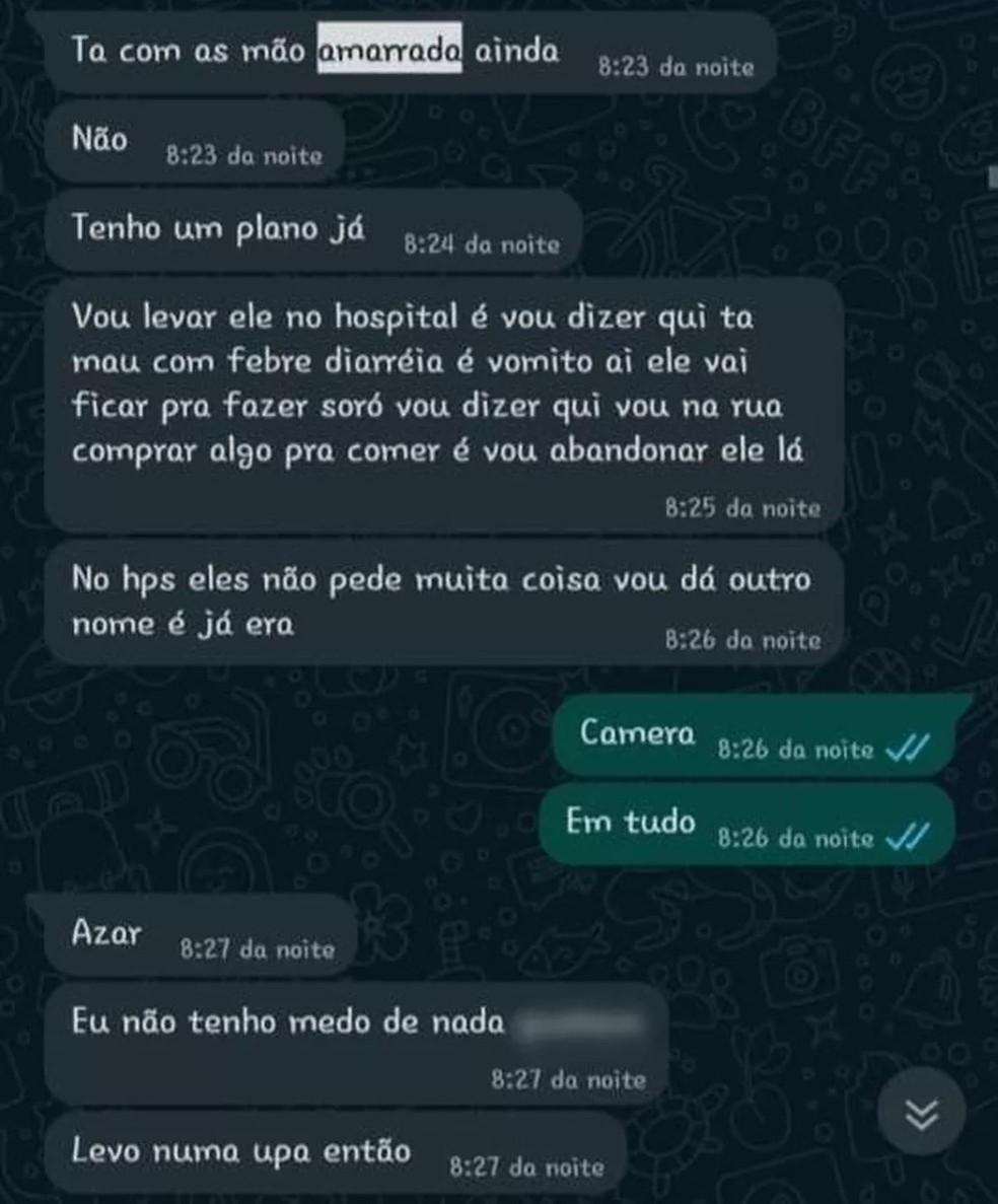 Casal planejava abandonar menbino em um hospital de Canoas, diz políci — Foto: Reprodução