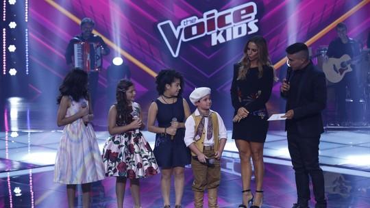 Thomas Machado e Tetê Prezoto continuam no 'The Voice Kids' e Ivete Sangalo enxuga lágrimas das crianças
