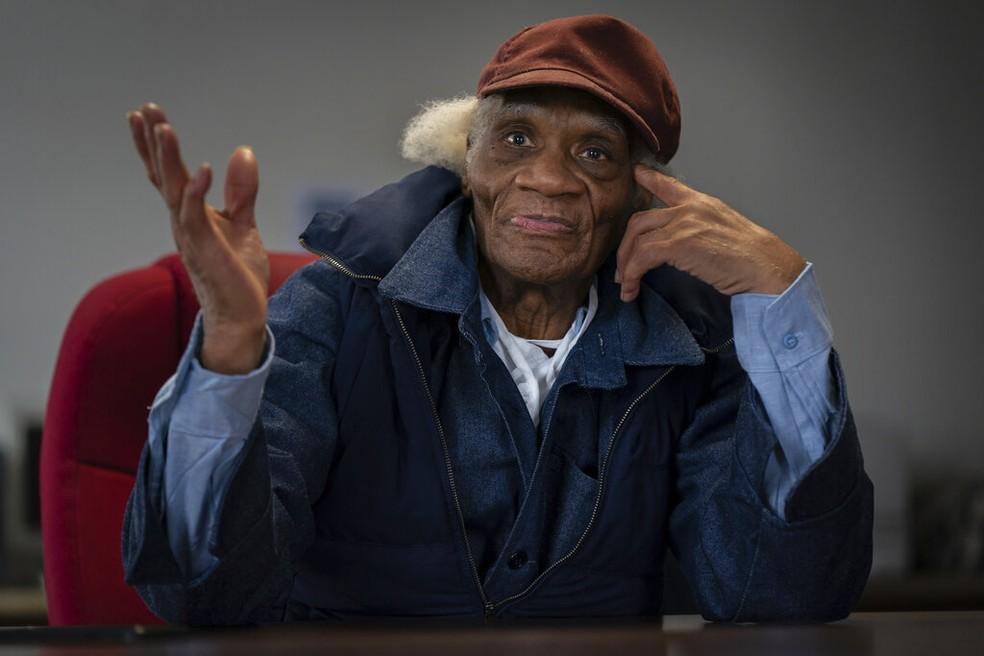 Joe Ligon passou 63 anos preso nos EUA — Foto: Jessica Griffin/The Philadelphia Inquirer via AP