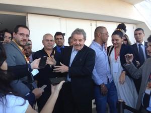 O ex-presidente Luiz Inácio Lula da Silva após participar de evento de mulheres em Brasília (Foto: Nathalia Passarinho / G1)