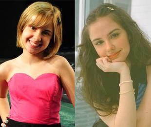 Clara Tiezzi em 'Ti-ti-ti' e atualmente  | TV Globo - Arquivo pessoal