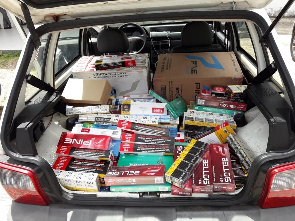 Foram mais de 310 mil unidades de cigarros apreendidas — Foto: Divulgação