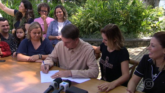 Veja as atividades de campanha do candidato Jair Bolsonaro