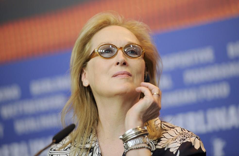 Meryl Streep na coletiva de abertura do Festival de Berlim (Foto: REUTERS/Stefanie Loos)