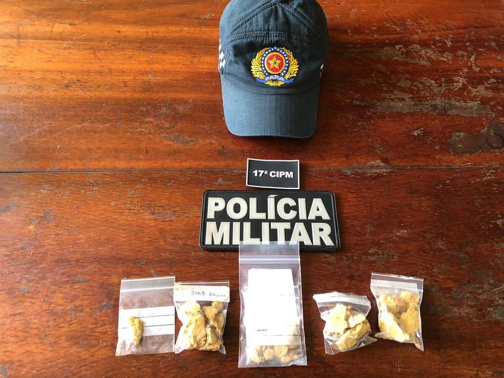 Ouro apreendido na operação Barreira, em Placas — Foto: Polícia Militar/Divulgação