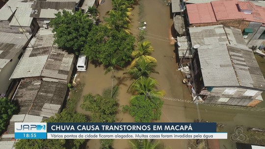 Fortes chuvas em Macapá inundam vias, alagam casas e causam estragos