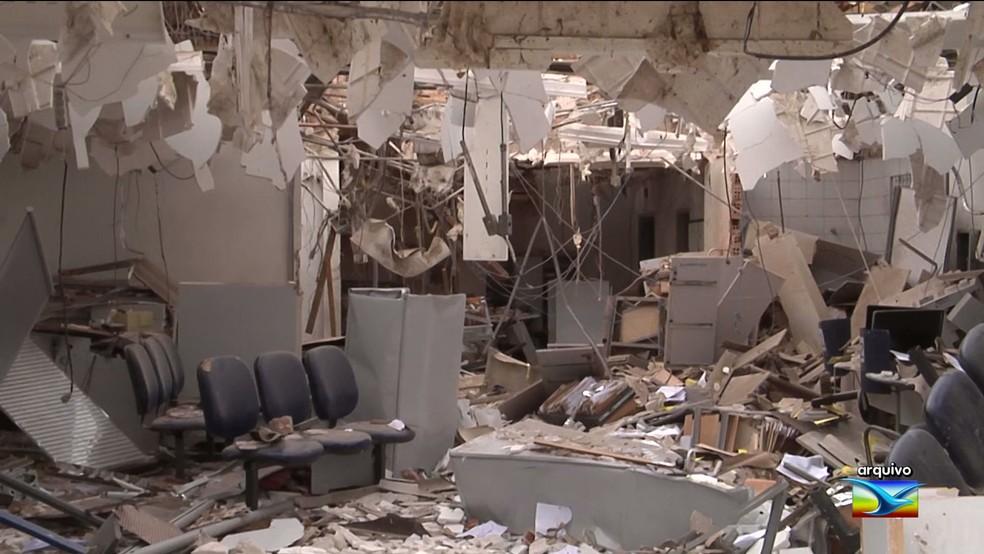 13 agências bancárias já foram alvo de explosões no Maranhão em 2018. — Foto: Reprodução/TV Mirante