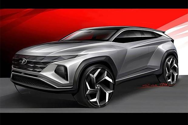 Projeto do novo SUV da Hyundai apresentado na índia (Foto: Divulgação)