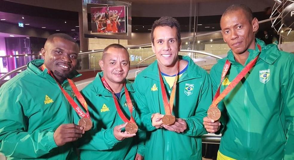 Bronze  é a 17ª medalha olímpica da história do atletismo brasileiro — Foto: Reprodução/Twitter