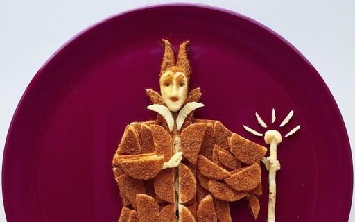 Com banana e canela, pai faz obras de arte para o café da manhã da filha