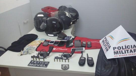 Quadrilha suspeita de roubos e assalto a bancos é presa em Itutinga
