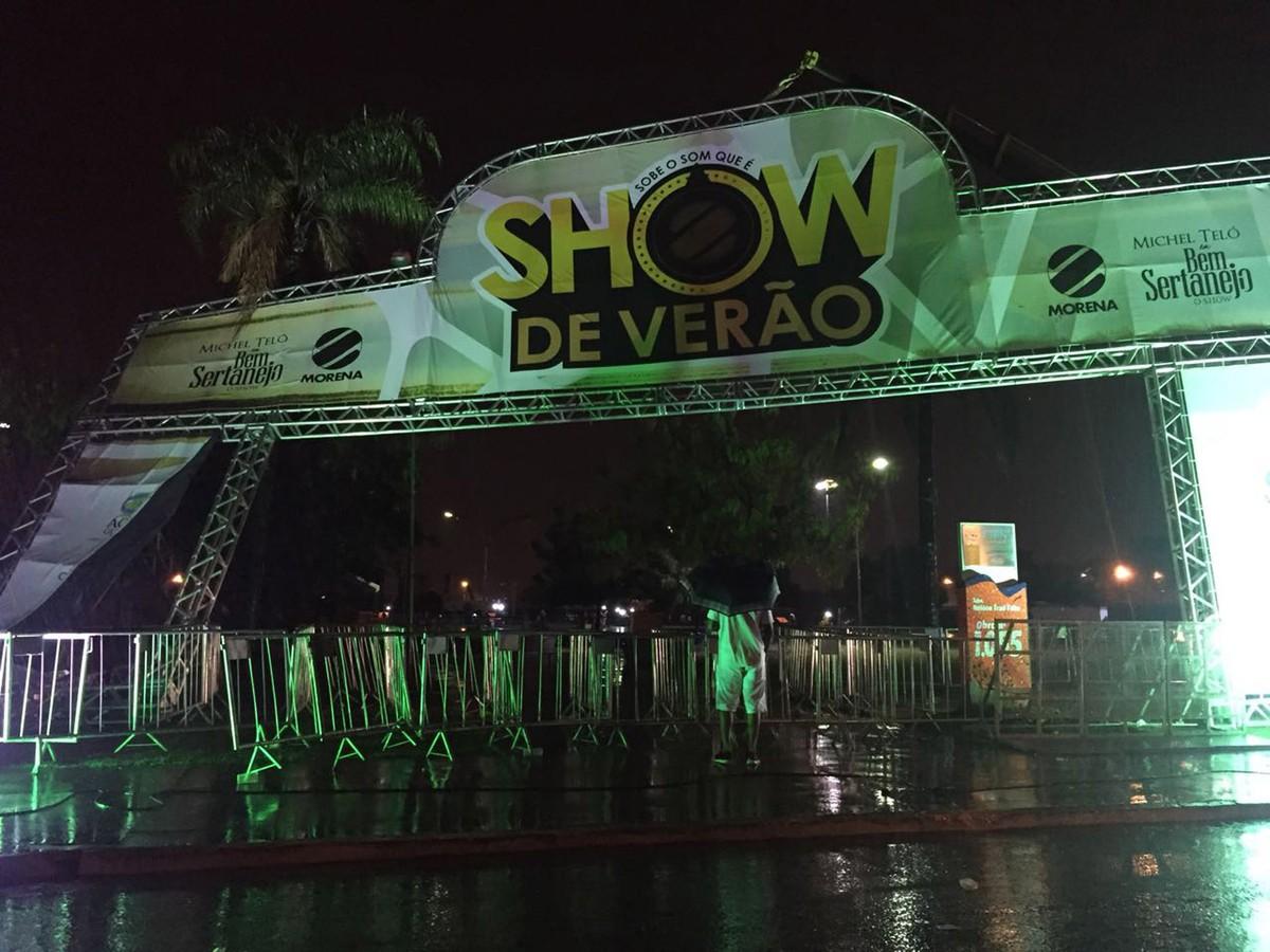 Show de Verão 2017 é cancelado devido ao mau tempo em Campo Grande