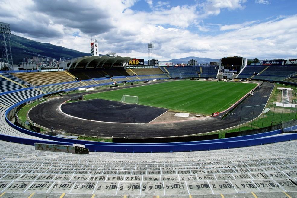 Estádio Atahualpa receberá o confronto entre Flamengo e Independiente Del Valle — Foto: Getty Images
