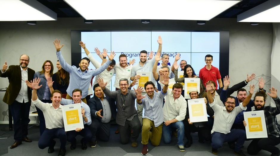 Empreendedores apresentaram suas ideias de negócio para executivos da Visa (Foto: Divulgação/André Grochowicz )