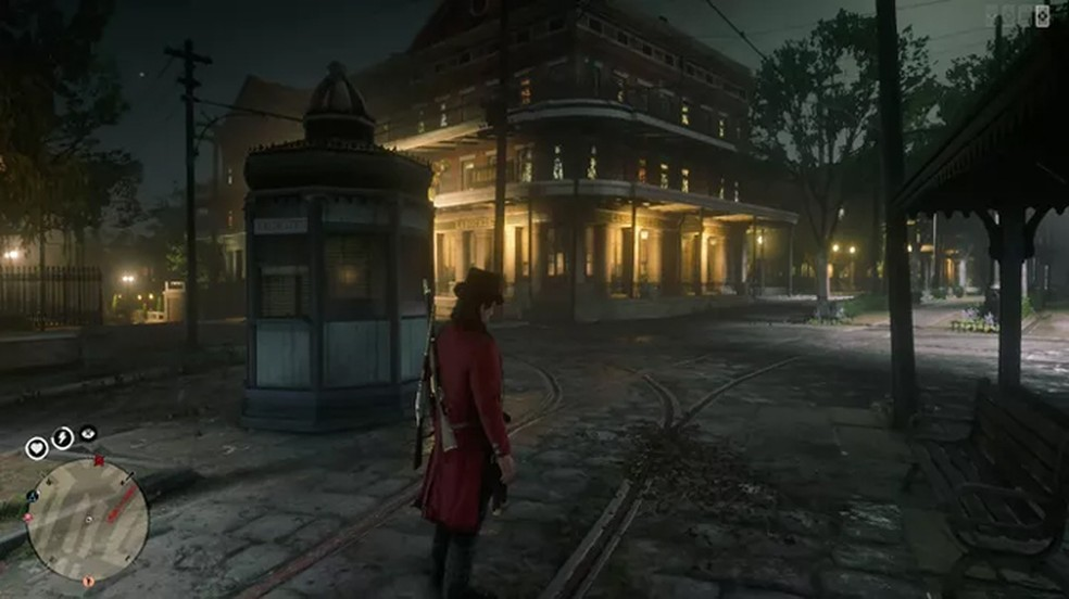 Jogador exibe imagem do bug das cidades fantasmas em Red Dead Redemption 2 — Foto: Reprodução/Polygon